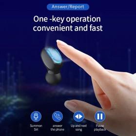 UKKUER Earphone TWS Bluetooth 5.0 + Charging Case 1500mAh - F15 - Black - 2