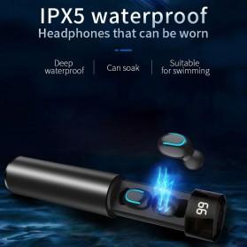 UKKUER Earphone TWS Bluetooth 5.0 + Charging Case 1500mAh - F15 - Black - 6