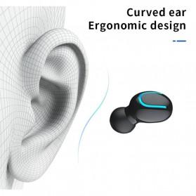 UKKUER Earphone TWS Bluetooth 5.0 + Charging Case 1500mAh - F15 - Black - 7