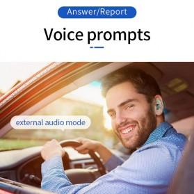 UKKUER Earphone TWS Bluetooth 5.0 + Charging Case 1500mAh - F15 - Black - 9