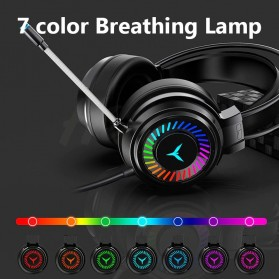 H&A Headphone Gaming USB Virtual Surround 7.1 Colourful RGB with Mic - G58 - Black - 4