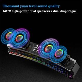Niye Bluetooth Gaming Soundbar Home Theater HiFi 3D Surround - SH39 - Black - 2