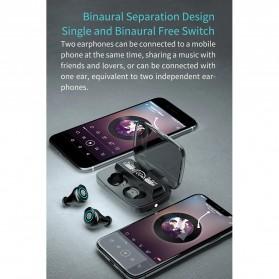 Robotsky TWS Sport Earphone True Wireless Bluetooth 5.0 with Powerbank Charging Dock 2000mAh - M17 - Black - 10