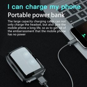 Robotsky TWS Sport Earphone True Wireless Bluetooth 5.0 with Powerbank Charging Dock 2000mAh - M17 - Black - 4
