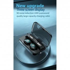 Robotsky TWS Sport Earphone True Wireless Bluetooth 5.0 with Powerbank Charging Dock 2000mAh - M17 - Black - 6
