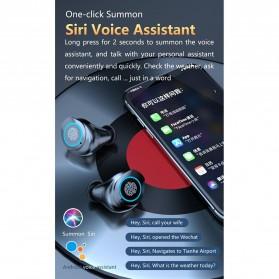 Robotsky TWS Sport Earphone True Wireless Bluetooth 5.0 with Powerbank Charging Dock 2000mAh - M17 - Black - 9