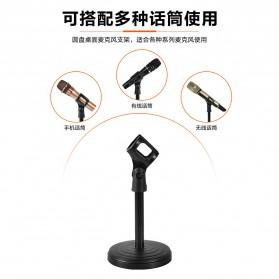 KEXU Stand Mikrofon Desktop Disc Microphone Holder 360 Degree - BC-09 - Black - 2
