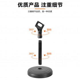 KEXU Stand Mikrofon Desktop Disc Microphone Holder 360 Degree - BC-09 - Black - 4