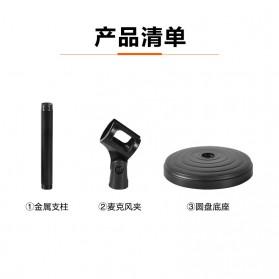 KEXU Stand Mikrofon Desktop Disc Microphone Holder 360 Degree - BC-09 - Black - 7