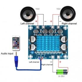 Tai&SH Digital Amplifier Board 30W x 2 TPA3110 - XH-A232 - Blue