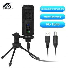 Marsnaska Microphone Condenser USB DJ Live Recording with Stand - BM-65 - Black