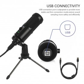 Marsnaska Microphone Condenser USB DJ Live Recording with Stand - BM-65 - Black - 3