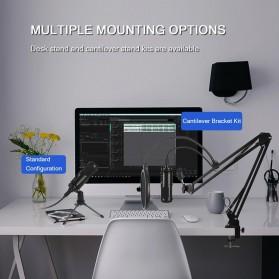 Marsnaska Microphone Condenser USB DJ Live Recording with Stand - BM-65 - Black - 5
