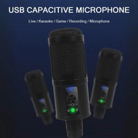 Marsnaska Microphone Condenser USB DJ Live Recording with Stand - BM-65 - Black - 6