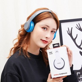 SHOUMI Bluetooth Wireless Headphone Headset Foldable - P47 - Black - 9