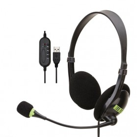 JINSHENGDA Wired Gaming Headphone Heavy Bass with Mic - SY440MV - Black