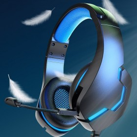 Blue Leaf Gaming Headphone Headset Super Bass RGB LED with Mic - J10 - Blue