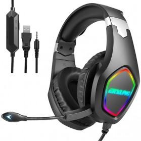 ERXUNG Gaming Headphone Headset Super Bass RGB LED with Mic - J20 - Black