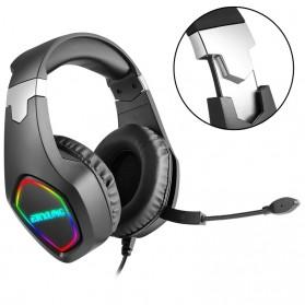 ERXUNG Gaming Headphone Headset Super Bass RGB LED with Mic - J20 - Black - 11