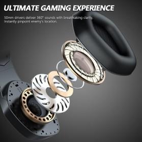 ERXUNG Gaming Headphone Headset Super Bass RGB LED with Mic - J20 - Black - 3