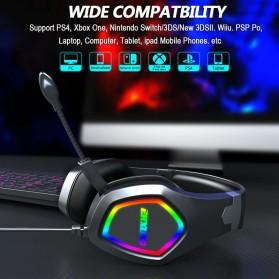 ERXUNG Gaming Headphone Headset Super Bass RGB LED with Mic - J20 - Black - 6