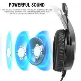 ERXUNG Gaming Headphone Headset Super Bass RGB LED with Mic - J20 - Black - 9