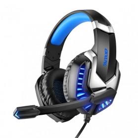 ERXUNG Gaming Headphone Headset Super Bass Glow Light with Mic - J30 - Blue