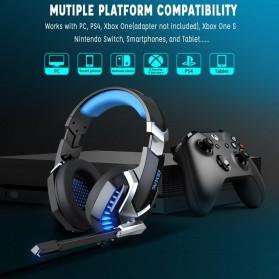 ERXUNG Gaming Headphone Headset Super Bass Glow Light with Mic - J30 - Blue - 3