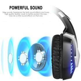 ERXUNG Gaming Headphone Headset Super Bass Glow Light with Mic - J30 - Blue - 5