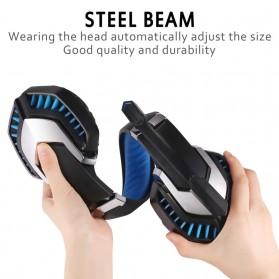 ERXUNG Gaming Headphone Headset Super Bass Glow Light with Mic - J30 - Blue - 9