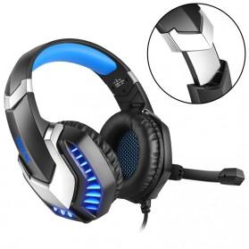 ERXUNG Gaming Headphone Headset Super Bass Glow Light with Mic - J30 - Blue - 10