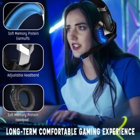 ERXUNG Gaming Headphone Headset Super Bass Glow Light with Mic - J30 - Blue - 6