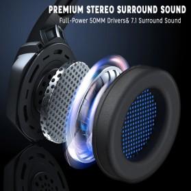 ERXUNG Gaming Headphone Headset Super Bass Glow Light with Mic - J30 - Blue - 7