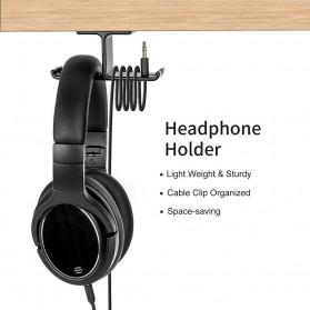 New Bee Hanger Bracket Gantungan Headphone Earphone 2 in 1 - NB-Z10 - Black - 3