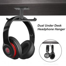 New Bee Hanger Bracket Gantungan Headphone Earphone 2 in 1 - NB-Z10 - Black - 6