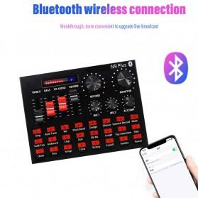 ZLIVE  Bluetooth Audio USB External Soundcard Live Broadcast Microphone Headset - N9 Plus - Black