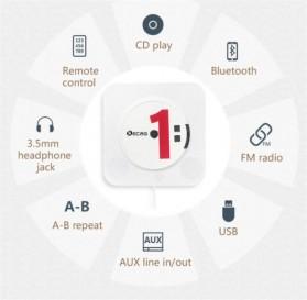 Tonivent CD Player Pemutar Kaset Bluetooth FM Radio - KC-808 - Black - 7