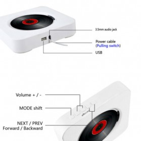 Tonivent CD Player Pemutar Kaset Bluetooth FM Radio - KC-808 - Black - 8
