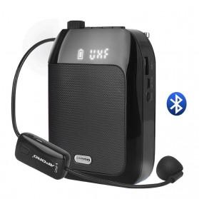 APORO Amplifier Penguat Suara Voice Speaker Bluetooth UFH Wireless - T9 - Black