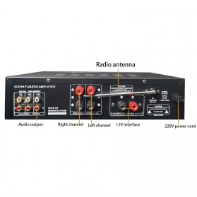 KYYSLB Audio Amplifier Mobil Car Bluetooth 5.0 Stereo 2 Channel 400W - TAV-368T - Black - 2