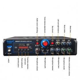 KYYSLB Audio Amplifier Mobil Car Bluetooth 5.0 Stereo 2 Channel 400W - TAV-368T - Black - 3