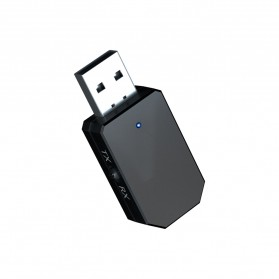 ESSAGER USB Dongle Bluetooth 5.0 Transmitter Receiver Audio Adapter - KN330 - Black