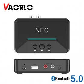 VAORLO Audio Bluetooth 5.0 Receiver NFC Stereo Car Kit Speaker - BT200 - Black