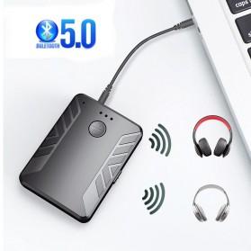 YIBEIKA 2 in 1 Audio Bluetooth 5.0 Receiver Transmitter 3.5mm - T20-1 - Black