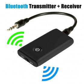 GOOJODOQ Audio Bluetooth 5.0 Transmitter Receiver Adapter Rechargeable - B10S - Black