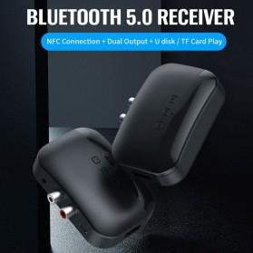 Centechia Audio Bluetooth 5.0 Receiver Adapter NFC RCA AUX - BLS-B20 - Black