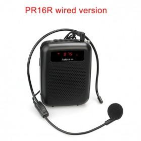RETEKESS Megaphone Mikrofon Penguat Suara Audio Tourguide Speaker 12W - PR16R - Black - 1