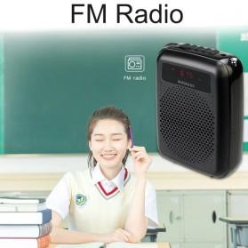 RETEKESS Megaphone Mikrofon Penguat Suara Audio Tourguide Speaker 12W - PR16R - Black - 2