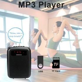 RETEKESS Megaphone Mikrofon Penguat Suara Audio Tourguide Speaker 12W - PR16R - Black - 4