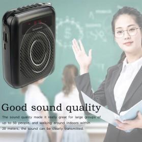 RETEKESS Megaphone Mikrofon Penguat Suara Audio Tourguide Speaker 12W - PR16R - Black - 5
